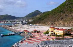 St. Martin Island Waterfront. Waterfront at St. Martin in Virgin Islands Stock Photography