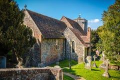 St Martin Kerk in Canterbury, de eerste kerk in En wordt opgericht die stock foto's