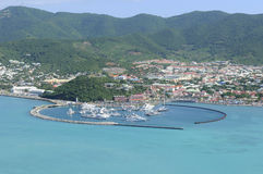 St Martin - Marigot - Port de Fort Louis Image libre de droits
