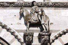 St. Martin på hästrygg Arkivfoto