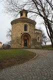 St. Martin Rotunda, Rotunda of St. Martin in Vysehrad in Prague royalty free stock photography
