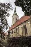 St. Martin's Cathedral, Bratislava. This is St. Martin's Cathedral at Autumn - Bratislava, Slovakia royalty free stock photography