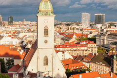 St. Martin 's cathedral in Bratislava with stormy clouds in back Royalty Free Stock Photos