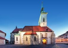Free St. Martin`s Cathedral In Bratislava At Night, Slovakia Stock Images - 172068664