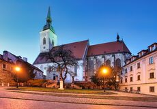 Free St. Martin`s Cathedral In Bratislava At Night, Slovakia Royalty Free Stock Photography - 193374677