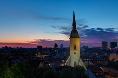 St. Martin's cathedral in sunrise Stock Images