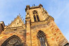 St Martin`s Church in Colmar Stock Photo