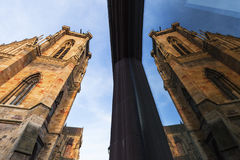 St Martin's Church in Colmar. Colmar, Grand Est, France royalty free stock photo