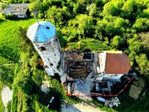 St. Martin& x27;s Church. The church of St. Martin is located in the Croatian town of Zagreb more precisely in the long village on the martin breg royalty free stock photography