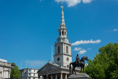 St Martin's-in-the-Field London. The church of St Martin's-in-the-Field London near Trafalgar Square Stock Photos