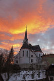 St. Martin's Parish Church at sunset Royalty Free Stock Photo