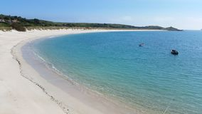 St Martin& x27; s plaża, wyspy Scilly, Cornwall zdjęcia stock