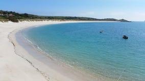 St Martin & x27; s-strand, öar av Scilly, Cornwall arkivfoton