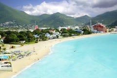 St Martin som är karibiskt, strand royaltyfria bilder