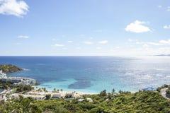 St Martin strand Arkivfoton