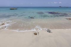 St Martin strand Arkivfoto