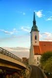 St. Martin's Catholic temple in Bratislava Stock Image