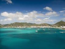St Martin zatoka Fotografia Royalty Free