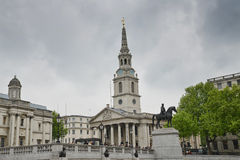 St- Martinkirche auf den Gebieten, London Stockbild