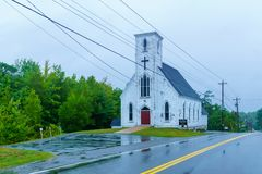 St Martins Anglican Church, en Martins River, Nova Scotia photo libre de droits