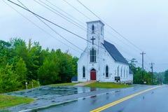 St Martins Anglican Church, in Martins River, Nova Scotia fotografia stock libera da diritti