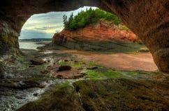 St Martins Caves Outside Inside de HDR Photographie stock libre de droits