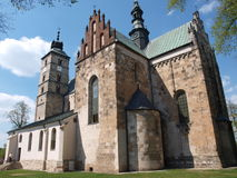 St Martins kyrka, Opatow, Polen royaltyfri foto