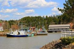 St Martins New Brunswick i Kanada arkivfoton