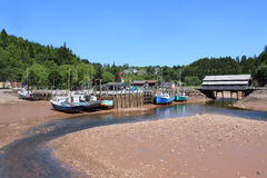 St. Martins, New Brunswick wharf Stock Photo