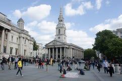 St Martins no campo Trafalgar Square Fotografia de Stock