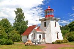 St- Martinstouristeninformationszentrumreplik des alten Leuchtturms Stockfoto