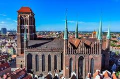 St Mary's大教堂在格但斯克,波兰 免版税库存照片