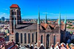 St Mary's Basilica in Gdansk, Poland Stock Photos
