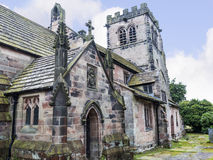 St Mary's Parish Church and  Schoolhouse in Nether Alderley Cheshire. Royalty Free Stock Image