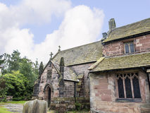St Mary's Parish Church and  Schoolhouse in Nether Alderley Cheshire. Stock Image