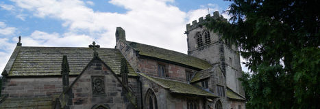 St Mary's Parish Church and  Schoolhouse in Nether Alderley Cheshire. Royalty Free Stock Images