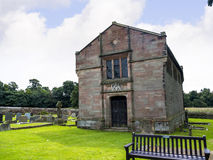 St Mary's Parish Church and Schoolhouse in Nether Alderley Cheshire. Stanley Family Mausoleum at St Mary`s Parish Church. Set in the rural countryside of royalty free stock photo