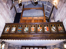St Mary's Parochiekerk in Onder- Alderley Cheshire Stock Foto's