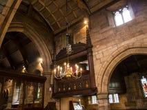St Mary's Parochiekerk in Onder- Alderley Cheshire Royalty-vrije Stock Afbeelding
