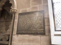 St Mary's Parochiekerk in Onder- Alderley Cheshire Stock Afbeelding