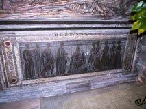St Mary's Parochiekerk in Onder- Alderley Cheshire Stock Afbeeldingen