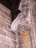 St Mary's Parochiekerk in Onder- Alderley Cheshire Royalty-vrije Stock Foto