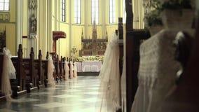 St Mary интерьера церков собора предположения, Джакарта видеоматериал
