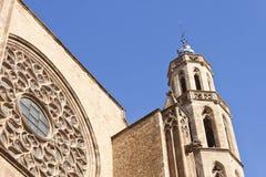 St Mary собора моря в Барселоне Стоковое Фото