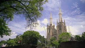 St Mary церков собора предположения, Джакарта акции видеоматериалы