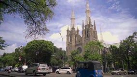 St Mary церков собора предположения, Джакарта сток-видео