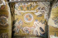 Византийская мозаика, жизнь St Mary Стоковое Изображение RF
