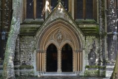 Entrance St Mary Abbots anglican church London Royalty Free Stock Image
