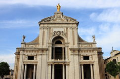 St. Mary of Angels Basilica in Assisi Stock Photography
