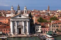 St Mary av radbandkyrkan, Giudecca ö, Venedig Arkivbilder